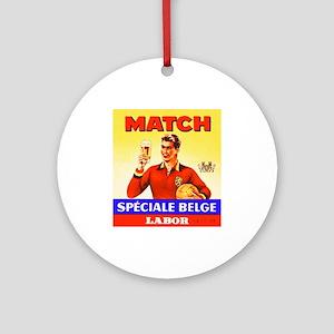 Belgium Beer Label 9 Ornament (Round)