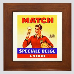 Belgium Beer Label 9 Framed Tile