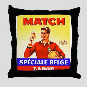 Belgium Beer Label 9 Throw Pillow