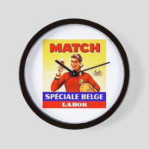 Belgium Beer Label 9 Wall Clock