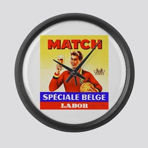 Belgium Beer Label 9 Large Wall Clock