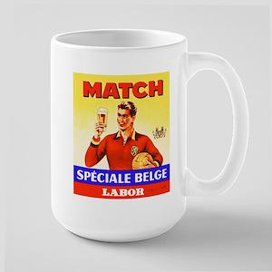 Belgium Beer Label 9 Large Mug