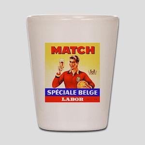 Belgium Beer Label 9 Shot Glass