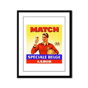 Belgium Beer Label 9 Framed Panel Print