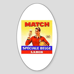 Belgium Beer Label 9 Sticker (Oval)