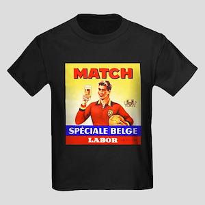 Belgium Beer Label 9 Kids Dark T-Shirt