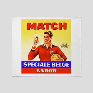 Belgium Beer Label 9 Throw Blanket