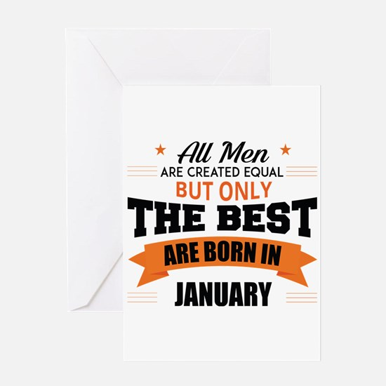 Legends Are Born In January Greeting Cards