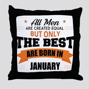 Legends Are Born In January Throw Pillow