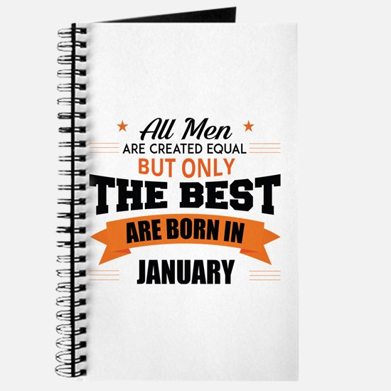 Legends Are Born In January Journal