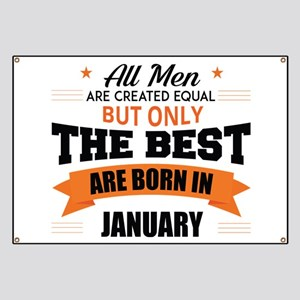 Legends Are Born In January Banner