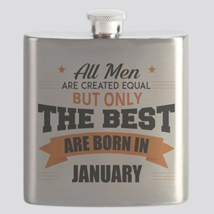 Legends Are Born In January Flask