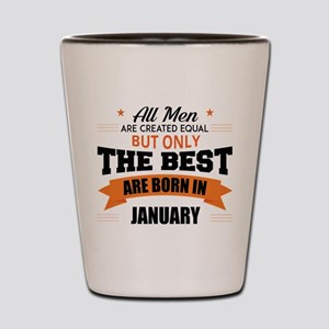 Legends Are Born In January Shot Glass