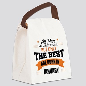 Legends Are Born In January Canvas Lunch Bag