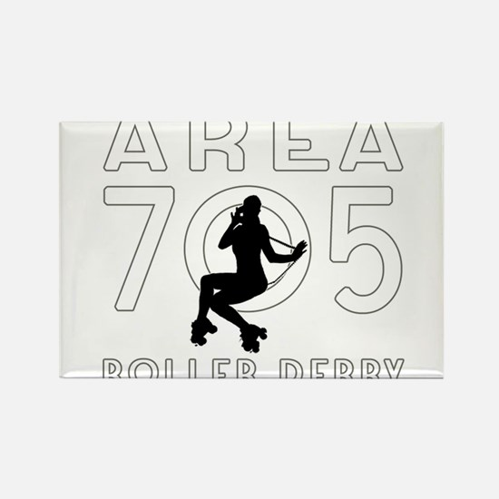 Area 705 Roller Derby League Logo Rectangle Magnet