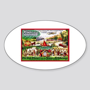 Canada Beer Label 15 Sticker (Oval)