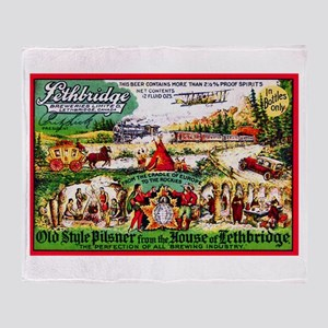Canada Beer Label 15 Throw Blanket