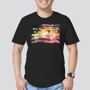 making a statement Men's Fitted T-Shirt (dark)