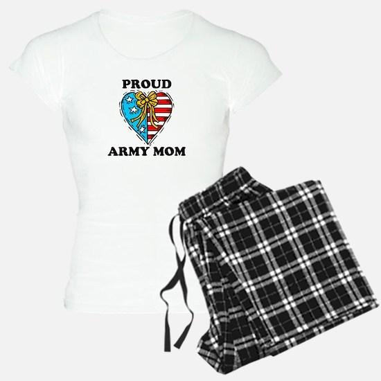 army mom patriotic heart.png Pajamas