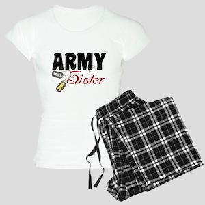 Army Sister Dog Tags Women's Light Pajamas