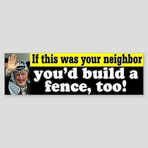 Arafat and the Fence Bumper Sticker