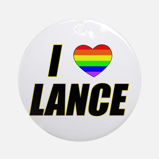 I heart Lance Ornament (Round)