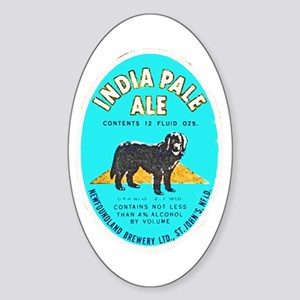 Canada Beer Label 8 Sticker (Oval)