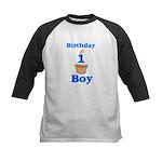 1 year old Birthday boy Kids Baseball Jersey