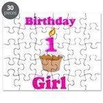 1 year old Birthday girl Puzzle