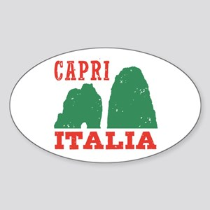 Capri Italia Sticker (Oval)