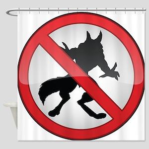 No Werewolves Shower Curtain