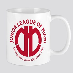 Junior League of Miami Circular Red Mug