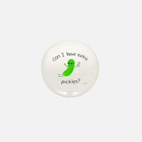 Extra Pickles Mini Button