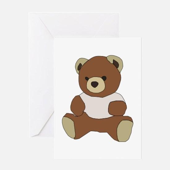 Cute Teddy Bear In Pink Top Greeting Cards