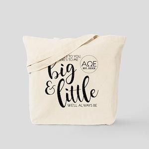 Alpha Omega Epsilon Big Little Personaliz Tote Bag