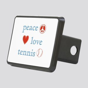 Peace Love Tennis Rectangular Hitch Cover
