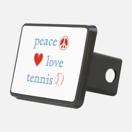Peace Love Tennis Hitch Cover