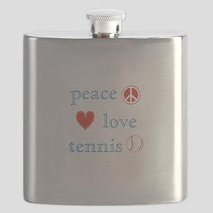 Peace Love Tennis Flask