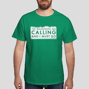 John Muir Mountains Calling Dark T-Shirt