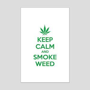Keep calm and smoke weed Mini Poster Print