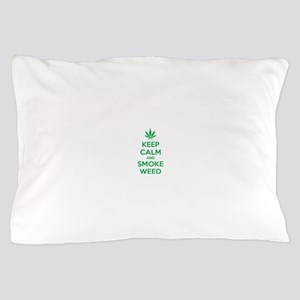Keep calm and smoke weed Pillow Case