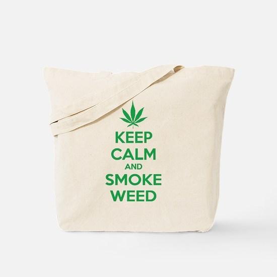 Keep calm and smoke weed Tote Bag