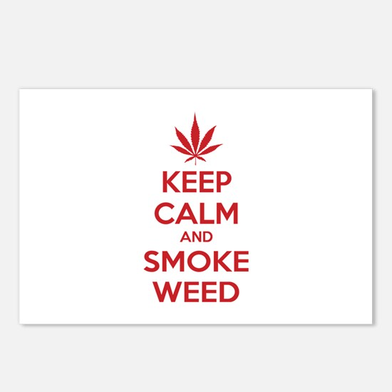 Keep calm and smoke weed Postcards (Package of 8)