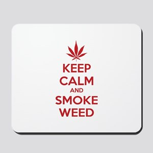 Keep calm and smoke weed Mousepad