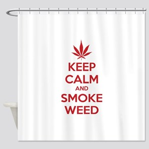 Keep calm and smoke weed Shower Curtain