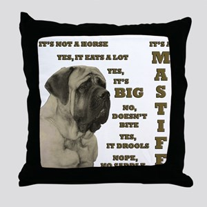 Mastiff FAQ Throw Pillow