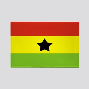 Rasta Gear Shop Ghana Flag Rectangle Magnet