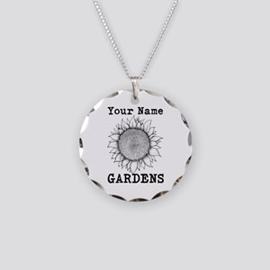 Custom Garden Necklace Circle Charm