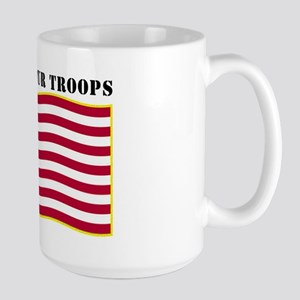 Support Our Troops US Flag Large Mug