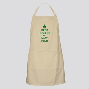 Keep rollin and stay high Apron